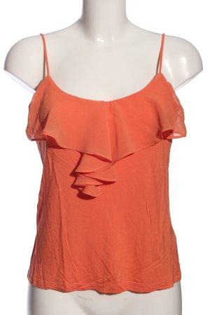 H&M Top z falbanami jasny pomarańczowy W stylu casual
