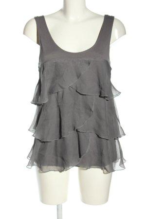 H&M Bluzka z falbankami jasnoszary W stylu casual