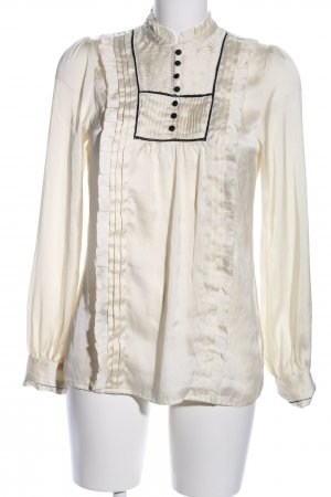 H&M Ruffled Blouse cream business style