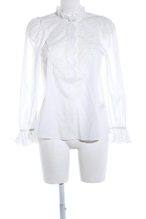 H&M Blouse à volants blanc style décontracté