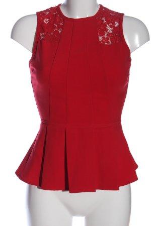 H&M Peplum Top red casual look