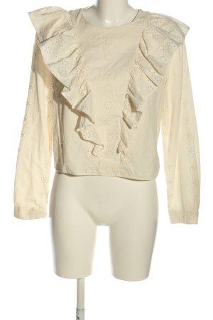 H&M Rüschen-Bluse creme Casual-Look
