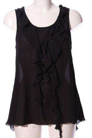 H&M Blusa con volantes negro look casual
