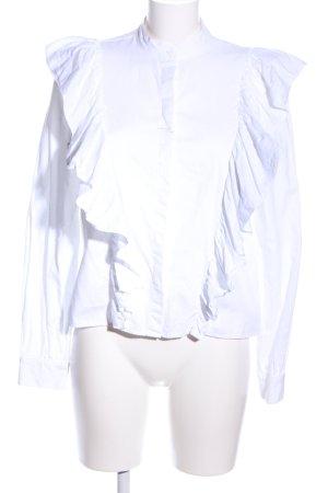 H&M Rüschen-Bluse weiß Casual-Look