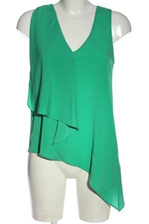 H&M Bluzka z falbankami zielony Elegancki