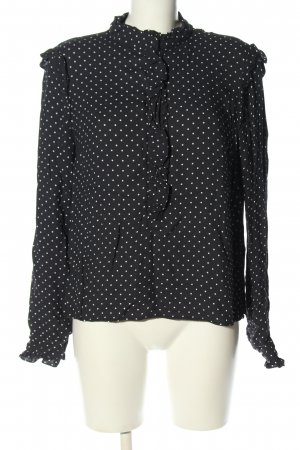 H&M Ruffled Blouse black-white business style