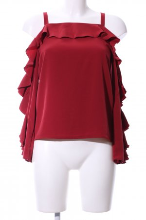 H&M Rüschen-Bluse rot Casual-Look