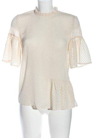 H&M Bluzka z falbankami kremowy Na całej powierzchni W stylu casual