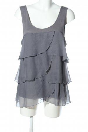 H&M Ruffled Blouse light grey elegant