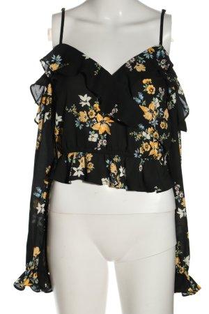 H&M Rüschen-Bluse Blumenmuster Casual-Look