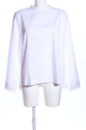 H&M Rüschen-Bluse weiß Business-Look