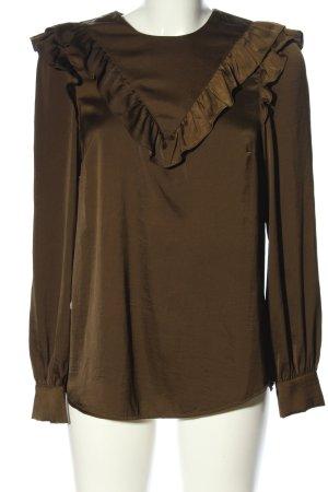 H&M Ruffled Blouse brown casual look