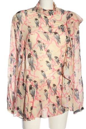 H&M Rüschen-Bluse Motivdruck Casual-Look