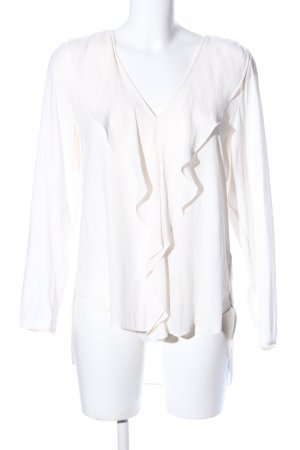 H&M Ruffled Blouse natural white business style