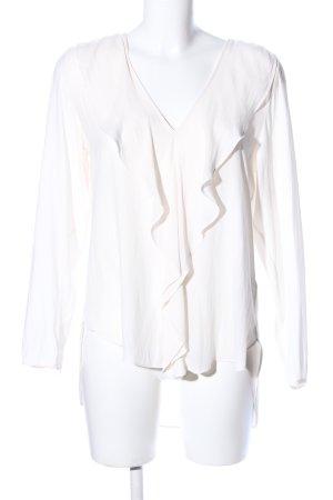 H&M Rüschen-Bluse wollweiß Business-Look