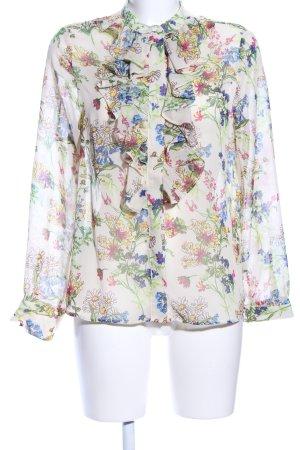 H&M Ruche blouse bloemenprint casual uitstraling