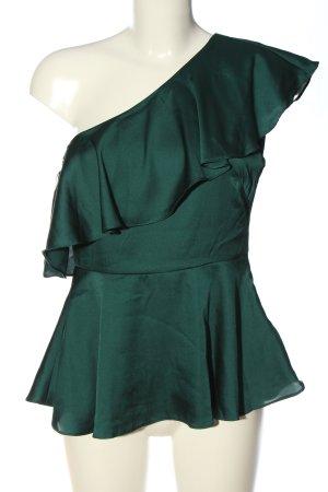 H&M Rüschen-Bluse grün Elegant