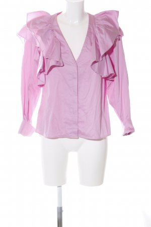 H&M Rüschen-Bluse pink Casual-Look