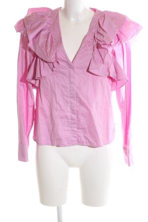 H&M Rüschen-Bluse pink Elegant