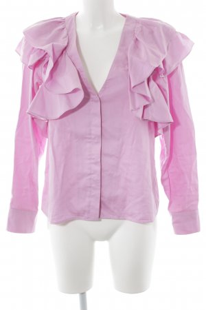 H&M Rüschen-Bluse rosa Elegant
