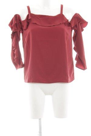 H&M Rüschen-Bluse rot Elegant