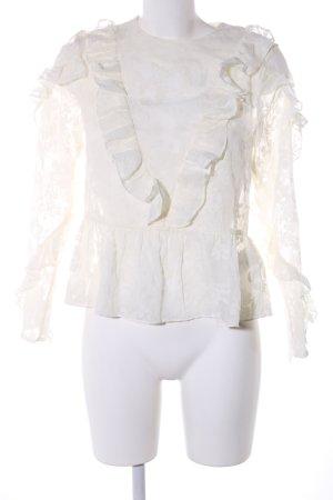H&M Rüschen-Bluse wollweiß Casual-Look