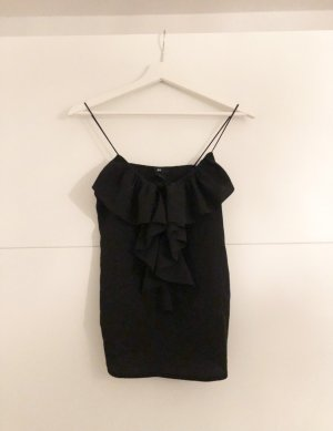 H&M Basic Frill Top black
