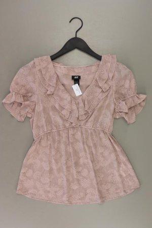 H&M Rüschenbluse Größe 36 Kurzarm rosa aus Polyester