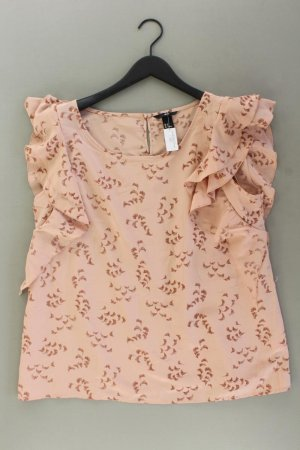 H&M Rüschenbluse Größe 44 Ärmellos rosa aus Polyester