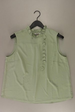 H&M Rüschenbluse Größe L Ärmellos olivgrün aus Polyester