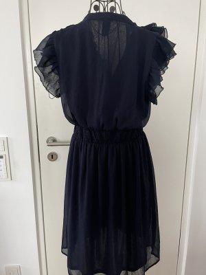 H&M Rüschenkleid Blau 40