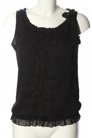 H&M Frill Top black business style