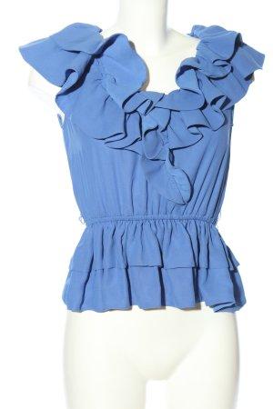 H&M Top met franjes blauw casual uitstraling
