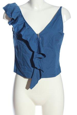 H&M Top a balze blu stile casual