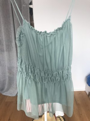 H&M Frill Top sage green