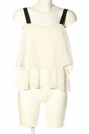 H&M Frill Top natural white-black casual look