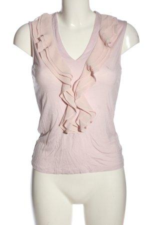 H&M Top z falbankami różowy W stylu casual