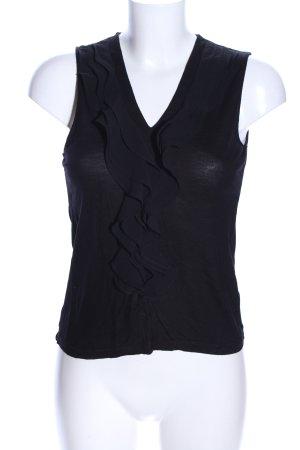 H&M Top met franjes zwart casual uitstraling