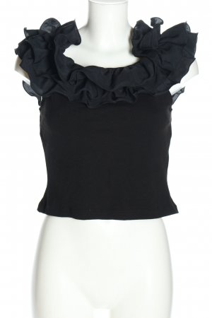 H&M Frill Top black elegant
