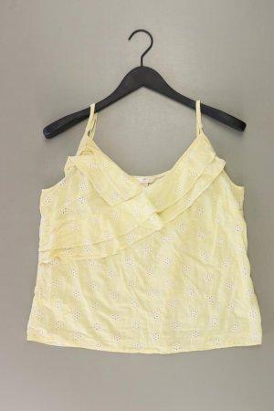 H&M Frill Top yellow-neon yellow-lime yellow-dark yellow cotton