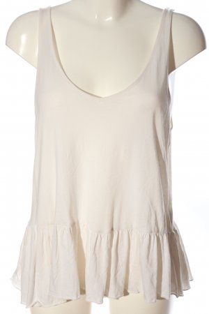 H&M Frill Top natural white casual look