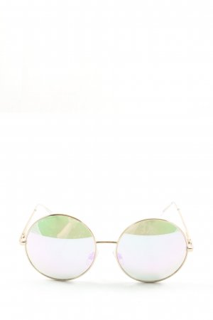 H&M Round Sunglasses gold-colored casual look