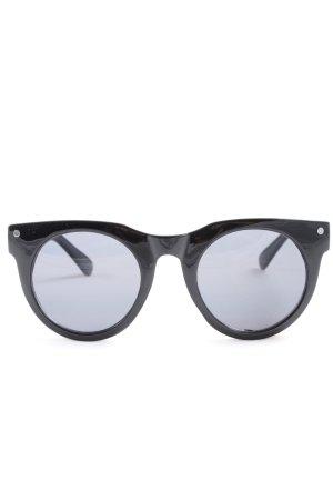 H&M runde Sonnenbrille schwarz Casual-Look