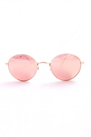 H&M runde Sonnenbrille pink-goldfarben Casual-Look