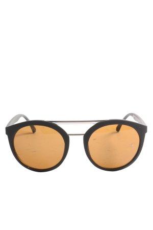 H&M Gafas de sol redondas negro-naranja claro look casual