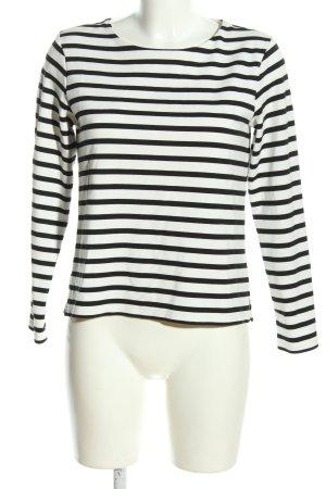 H&M Pull ras du cou blanc-noir imprimé allover style décontracté