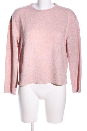 H&M Rundhalspullover pink meliert Casual-Look