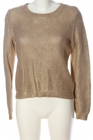 H&M Rundhalspullover goldfarben Casual-Look