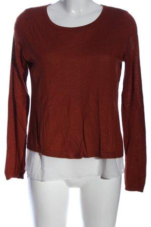 H&M Rundhalspullover braun-weiß Casual-Look