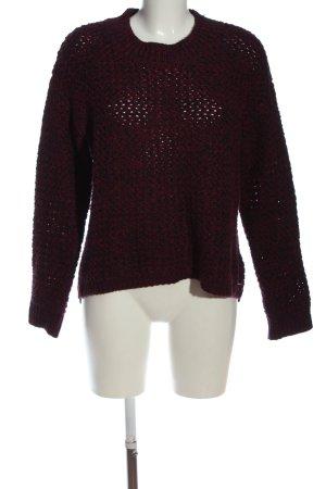 H&M Rundhalspullover rot-schwarz meliert Casual-Look